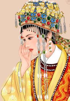 薛宝钗手绘图片