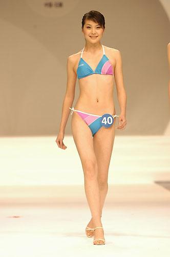 组图:职业模特大赛决赛性感泳装秀(7)