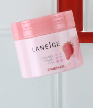 兰芝草莓酸奶面膜(图)