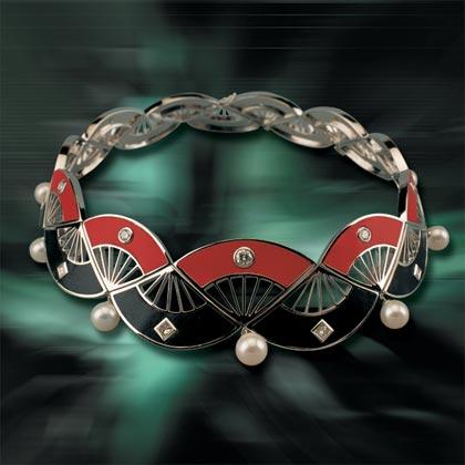 组图:中国珠宝首饰设计大赛-项饰组轻歌扇舞