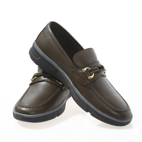 魅力男士系带休闲皮鞋(卡其色)