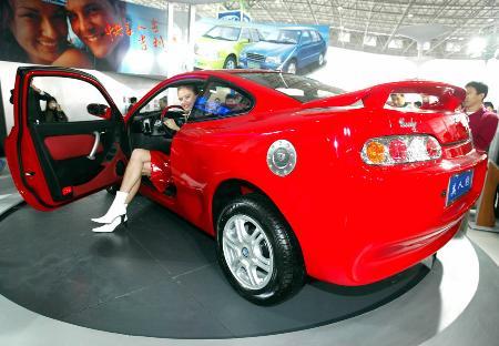 图文 首款国产跑车 吉利 美人豹 亮相杭州高清图片