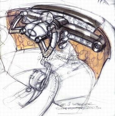 fab1跑车操作系统手绘设计图