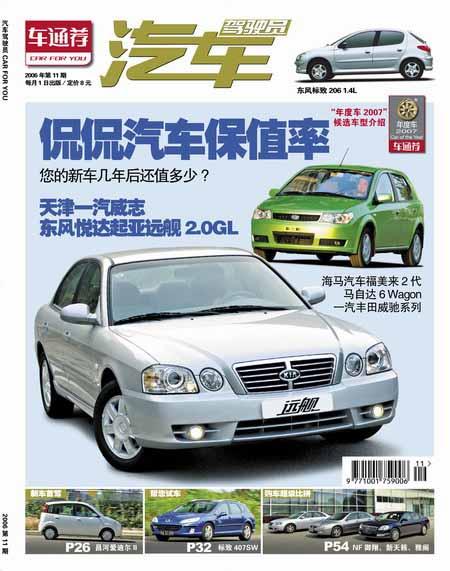 《汽车驾驶员》2006年第11期--汽车保值率大揭秘(图)