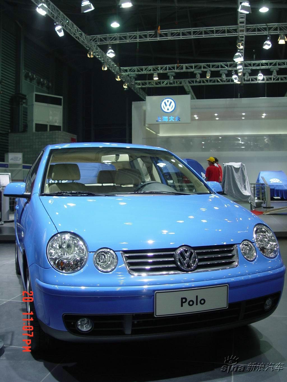车展占地面积达到12万平方米.图为上海大众polo.-上海大众polo高清图片