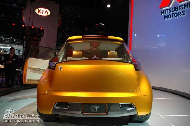 长、规模最大的汽车展之一.以上为三菱概念车现场图(张效明 摄)高清图片