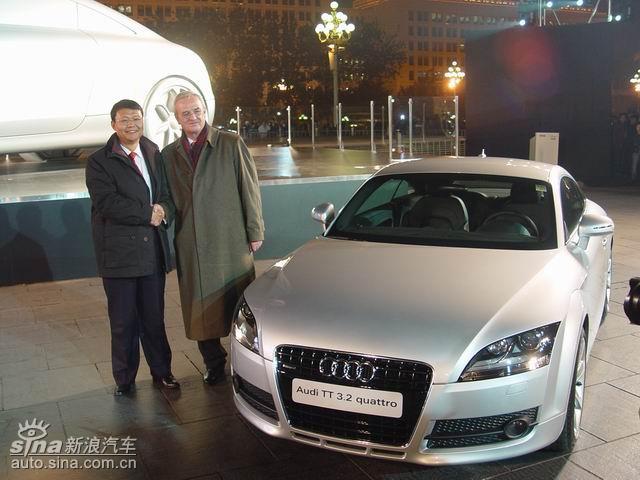 大众汽车有限公司与其合作伙伴奥迪公司旗下的全新奥迪tt亮相高清图片