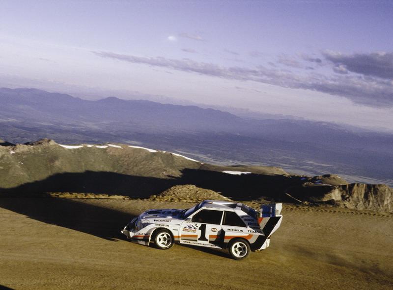 奥迪经典赛车,图为奥迪 quattro s1派克峰图片.高清图片