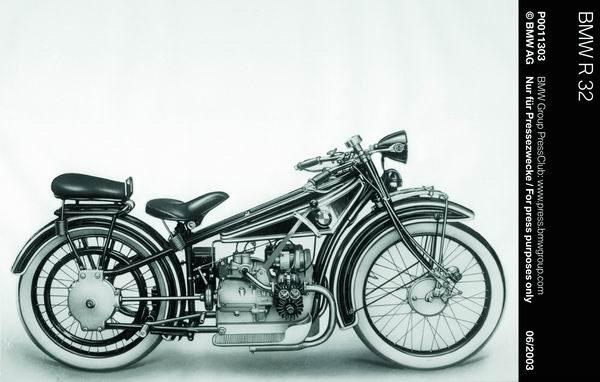 1923-第一辆BMW R32摩托车