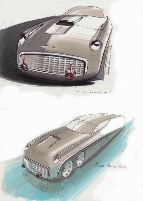 福特原厂手绘设计图