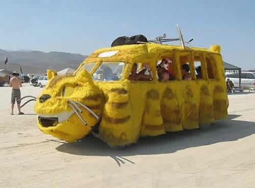 黄色猫咪车