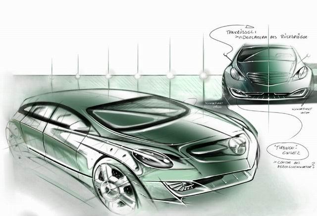 奔驰原厂手绘设计图_图片_新浪汽车