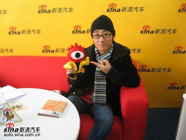 红白蓝之红色王凡瑞到北京车展-新浪汽车展台做访谈