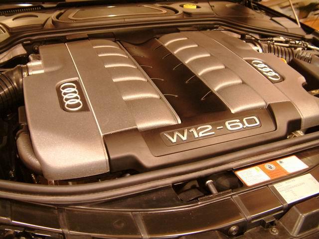 奥迪A8 L 6.0 quattro发动机