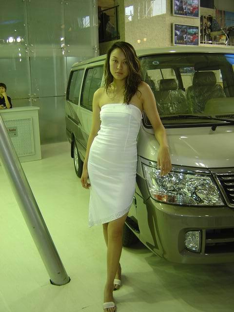 车展美女 图片
