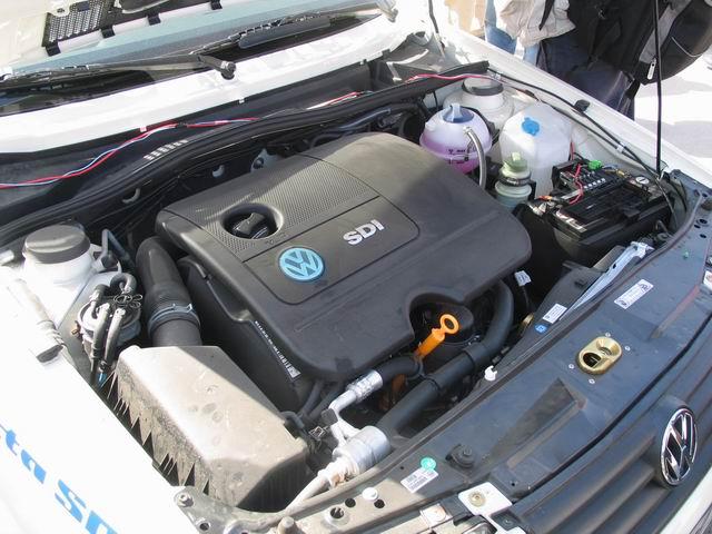 图为捷达SDI柴油车发动机.-柴油动力高清图片
