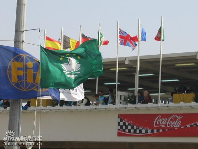 赛场上各国国旗