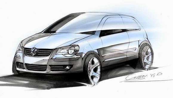 汽车向上海大众求证,公关部的人称这只是手绘的草图