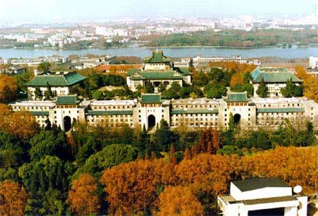 图文 校园秋色大比拼 武汉大学 俯瞰校园图片