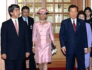 韩国总统金大中会见日本王室成员高圆王子(图