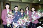 图文-中国亚运代表团凯旋