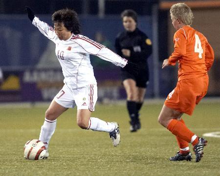 女足热身赛被荷兰逼平孙雯复出首战获高度评价