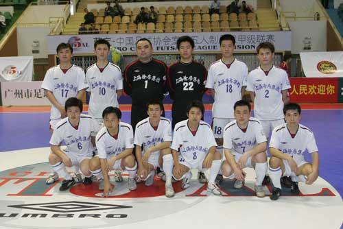 图文-2006年全国室内五人制联赛上海队全家福