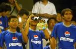 图文-北京现代0-3不敌曼联球迷看球装备齐全
