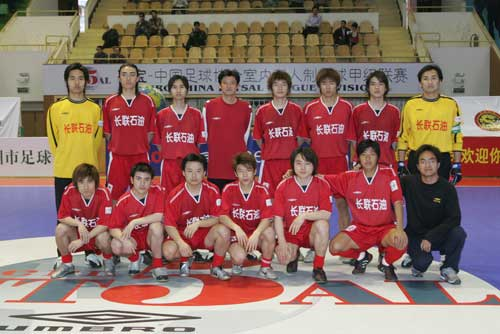 图文-2006年全国室内五人制联赛武汉队全家福