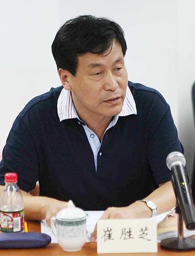 图文-女足世界杯筹备会浙江体育局助理巡视员崔胜芝