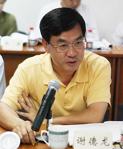 图文-女足世界杯筹备会天津市体育局副局长谢德龙