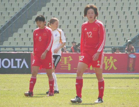 图文-中国女足0-0德国暂列第一中国姑娘不满平局?