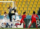 图文-[亚运]女足2-0韩国夺季军韩文霞门前飞身救险