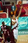 图文-亚运男篮决战中国对卡塔尔易建联称霸篮下
