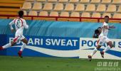 图文-[亚运会]中国国奥VS伊朗队博哈尼庆祝进球