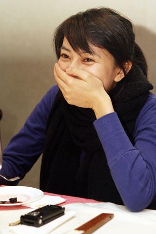 图文-《劲体育》孔令辉对话高圆圆可爱的偷笑