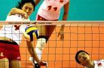 图文-亚运会中国女排3比0胜越南刘亚南二号位快攻