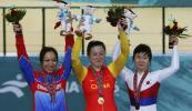 图文-自行车女500米计时赛郭爽夺冠笑得乐开花