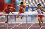图文-田径男子110米栏预赛中国队史冬鹏顺利晋级