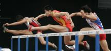 图文-亚运男子110米栏预赛史冬鹏小组排在第二