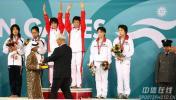 图文-女子十米台陈若琳/贾童夺金梦寐以求的时刻来到