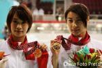 图文-女子双人三米板决赛赛况中国队金牌组合