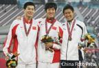 图文-刘翔打破亚运会纪录夺冠东亚人大胜利