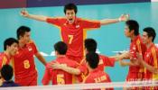 图文-多哈亚运中国男排3-2沙特中国小伙子真棒