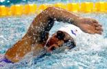 图文-矢野友理江女子800米自由泳夺冠水中劈波斩浪