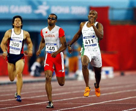 [亚运会·金牌榜](3)田径――沙特选手男子400米决赛夺金-沙特选手