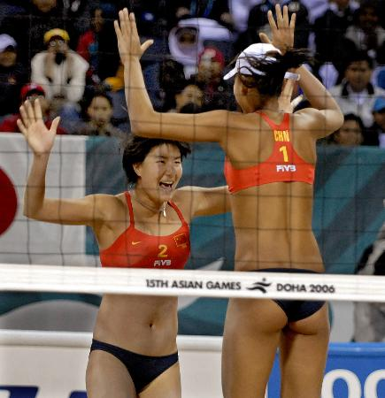 [亚运会·金牌榜](1)沙滩排球――薛晨/ 张希夺冠-女子沙滩排球薛晨