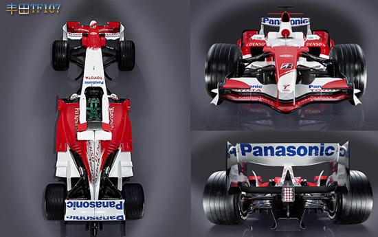 世界一级方程式锦标赛参赛车型介绍之丰田TF107