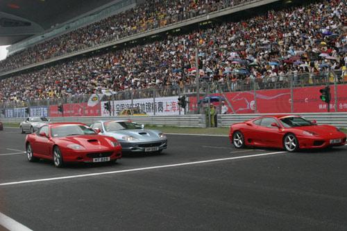 新浪体育讯 北京时间6月6日下午,上海f1国际赛车场正式揭幕,图为