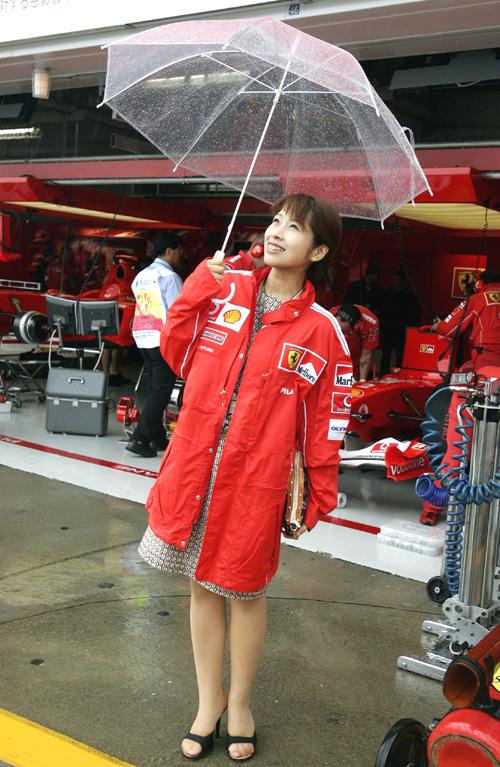 图文-F1日本站第2次练习法拉利宝贝在雨中